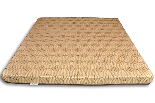 Sleepwell Enovation 5-Inch Double Size Foam Mattress (Chocolate Brown, 72x60x5)