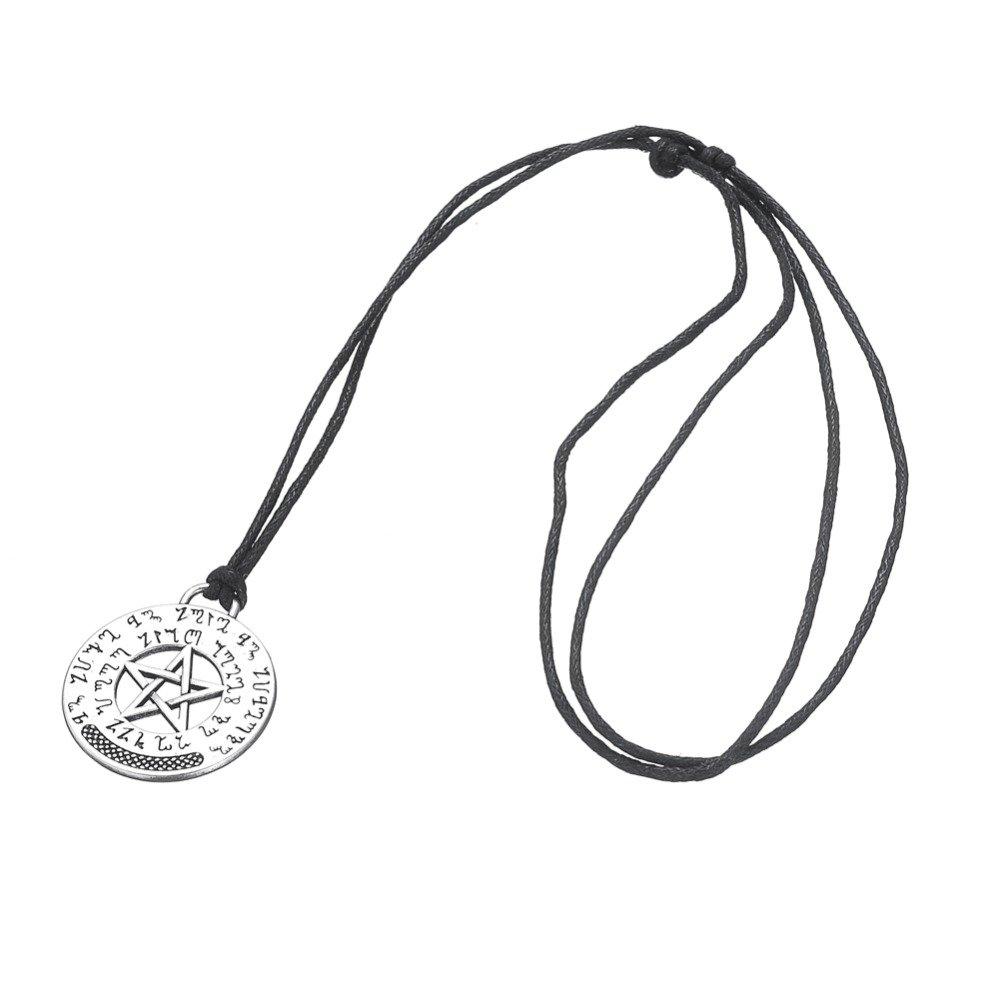 BORNmemo Wiccan Talisman Pentacle Hermetic Enochian Kabbalah Pagan Wiccan Jewelry Necklace