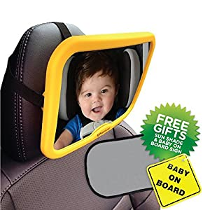 Venture - Espejo para asiento delantero para bebés con pegatina