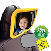 Venture Active Baby Car Mirror with Baby On Board Sign and UV Sun Shade