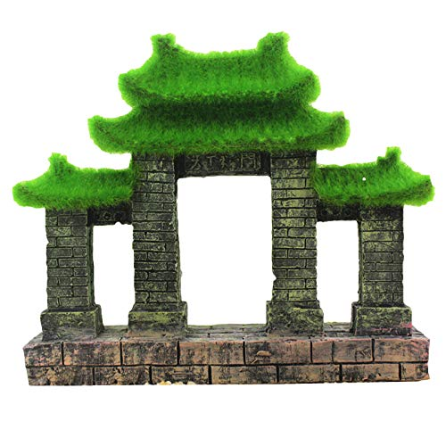 LUCKFY 수족관 장식-물고기 탱크 중국어 건축 장식-인간의 풍경 수족관 장식 액세서리 데스크탑 장식