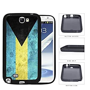 Bahamas Flag Black Triangle with Aquamarine and Yellow Horizontal Bands Grunge Hard Rubber TPU Phone Case Cover Samsung Galaxy Note 2 N7100 Kimberly Kurzendoerfer