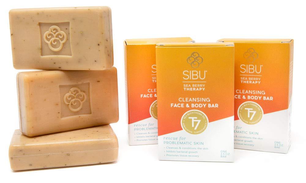 SIBU Beauty Cleansing Face & Body Bar, 3pk by sibu