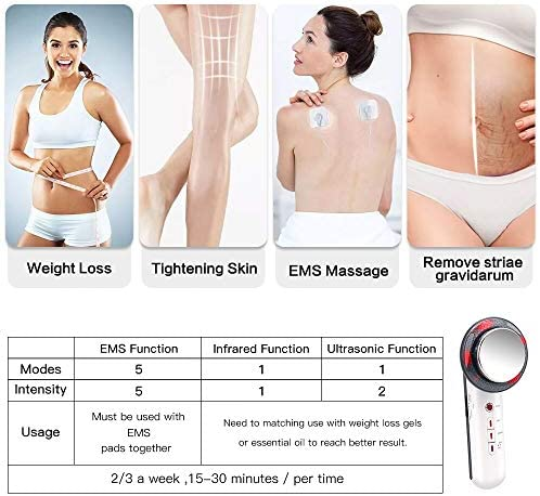 EMS Sliming Massager for Body Belly Massager Machine Muscle Massage Skin Tighten and Reduce Stria Gravidarum 3 in 1 Infrared Beauty Device for Women 3