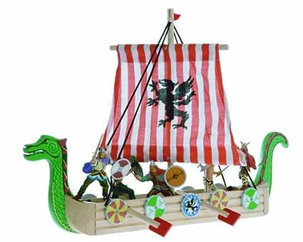 Amazoncom Sea Dragon Viking Drakkar Wooden Viking Ship Toys Games