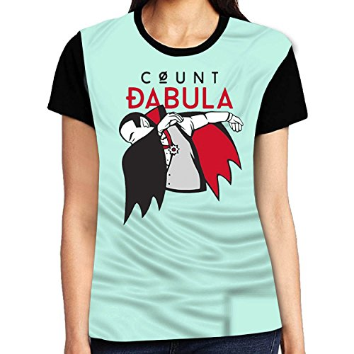 Dearsally Special Halloween DAB T Shirt Count DABULA Tee Woman Girl Graphic Fashion Distinctive Short O-Neck Tee Stylish Women Tee Light - Glasses Blue Light Nectar