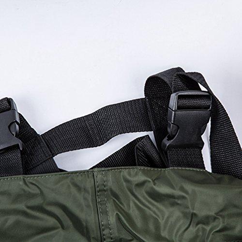 Pescatori Pantaloni Per Impermeabili Salopette Torace Fino Al Yiiquan Lavoro Verde Pvc In Standard Unisex CYxw0XYqA