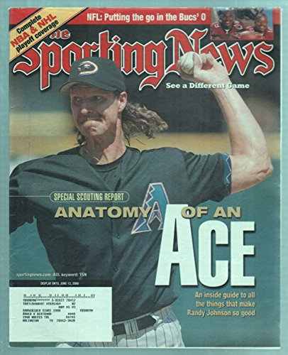 The Sporting News Magazine June 12  2000 Anatomy Of An Ace Randy Johnson Cover Good