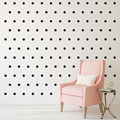 Black Polka Dots Wall Decals 2 210 Removable Peel And Stick Matte Finish Vinyl Decor Stickers 3 Sheets Of Inch Circles