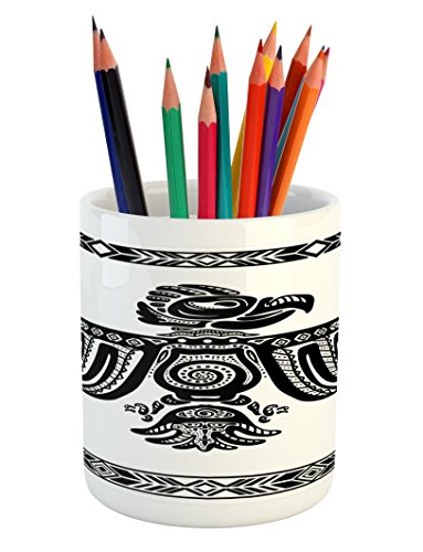 Cheap  Eagle Pencil Pen Holder by Lunarable, Tattoo Art Design Inspired by Primitive..