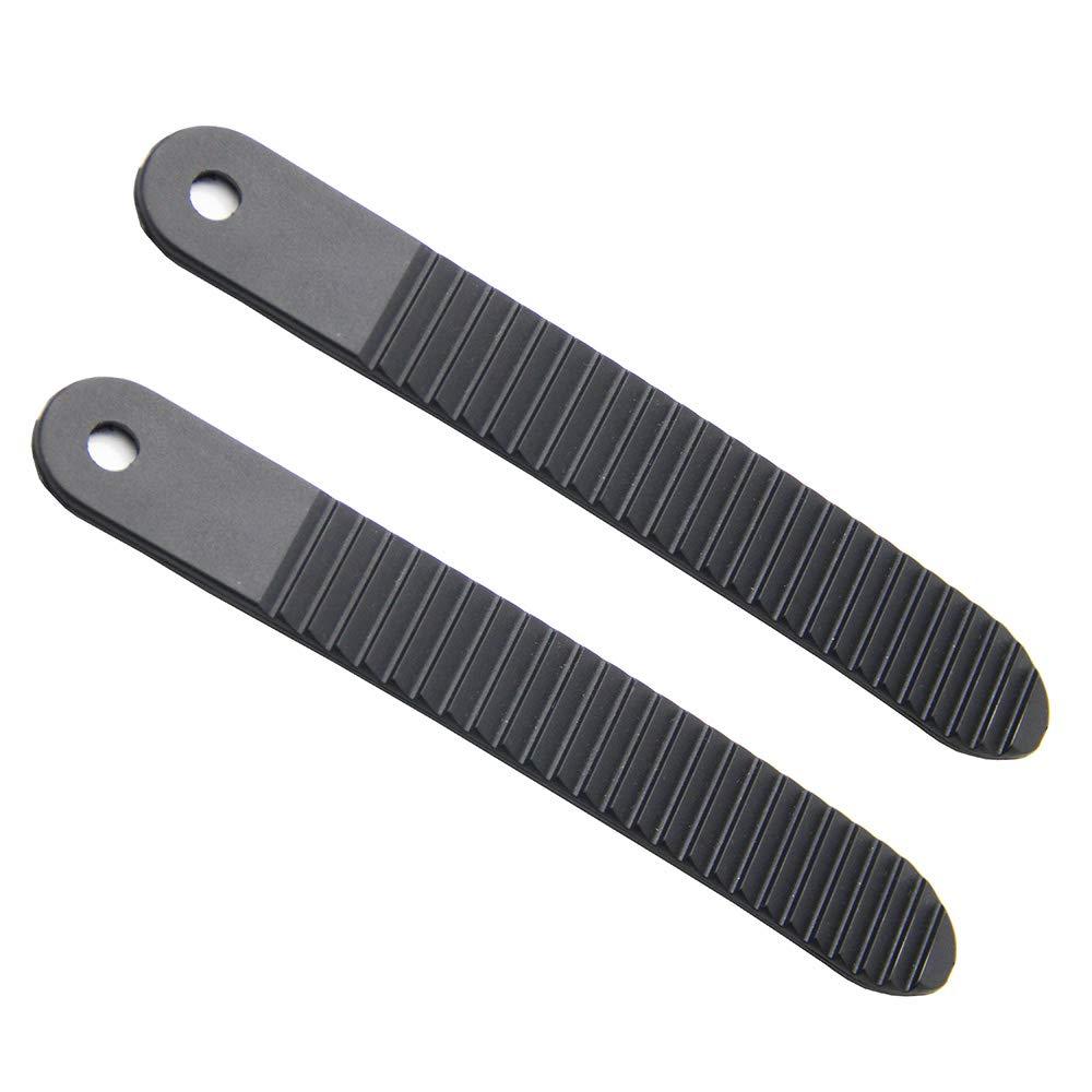 Mangobuy Snowboard Binding Toe Tongue Ladder Straps Black Plastic 6.7 inch for Snowboard Strap-in Binding System