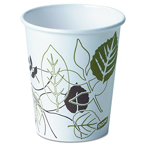 Dixie 2340PATH Pathways Paper Hot Cups, 10 oz (Case of 1000)