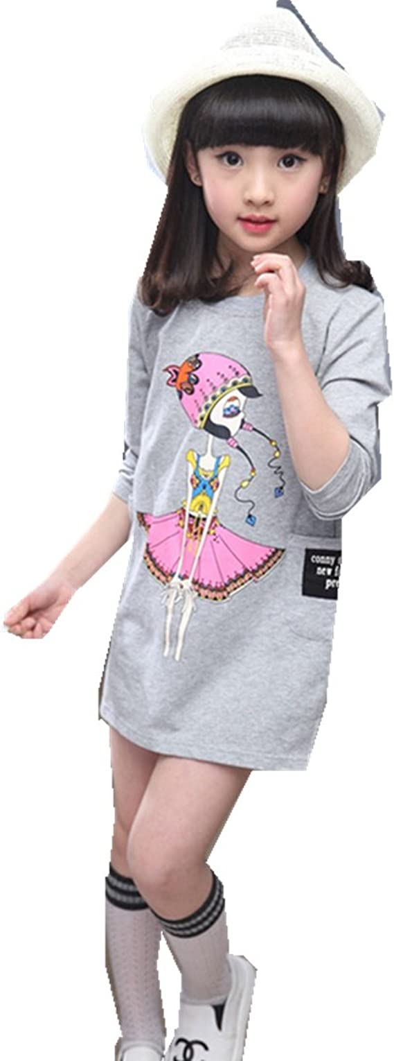 Mv New Girls Spring Children S Long Sleeved Shirt Underwear Clothing Korean T Shirt Amazon Ca Clothing Accessories