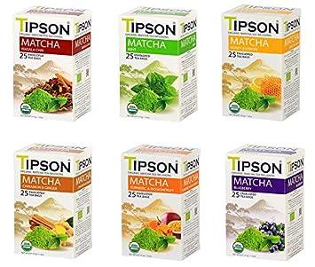 Tipson Tea Matcha 6 surtido de sabores, certificado por la ...