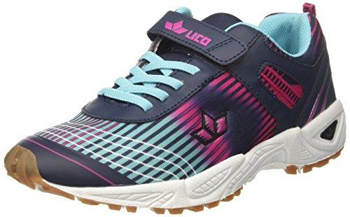 GEKA Barney Vs, Zapatillas de Deporte Interior para Mujer Azul (Marine/Pink/Tuerkis Marine/Pink/Tuerkis)