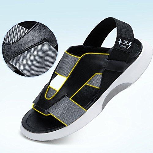 Tamaño Suela Hombre Antideslizante Zapatos Altura del Talón De Goma QIANDA 5UK 39EU 4cm 6US Fiesta Verano De Amortiguación Sandalias Microfibra 5 q8I5w0a
