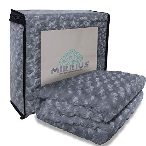 Cheap MIRRIUS REFINED Universal Soft Chenille Cover for Weighted Blanket - 48x72 Extra Ties Machine Washable Removable Extra Long Zipper (Duvet Cover Only) Black Friday & Cyber Monday 2019