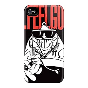 Great Hard Cell-phone Cases For Apple Iphone 4/4s With Customized Realistic Foo Fighters Skin JamieBratt