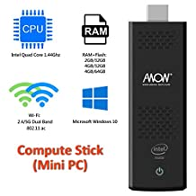 Intel Compute Stick Windows 10 - AWOW With Intel Atom X5-Z8350 processor Dual - Channel WiFi Intel Built-in fan Supports multiple languages