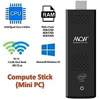 AWOW MP18 Intel Cherry Trail Fanless Mini PC Windows 10.1 (Home) [4GB/32GB/Dual-Band Wi-Fi/4K HD Display]-(MP18-SC432) (4GB) (RAM)