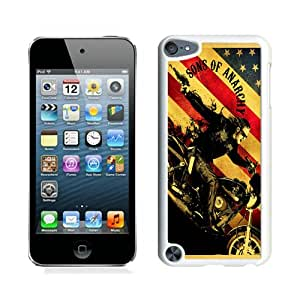 Unique And Popular iPod Touch 5 Case ,Sons Of Anarchy TV Series White iPod Touch 5 Screen Cover Beautiful Designed