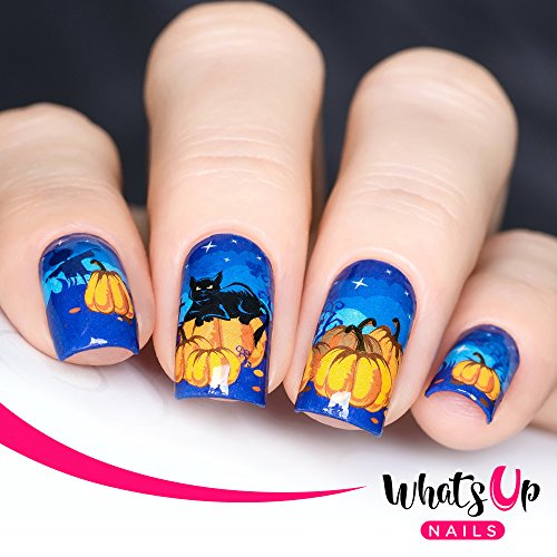 Whats Up Nails - P041 Pumpkin Patch Nightmare Water Decals Sliders for Halloween Nail Art Design -