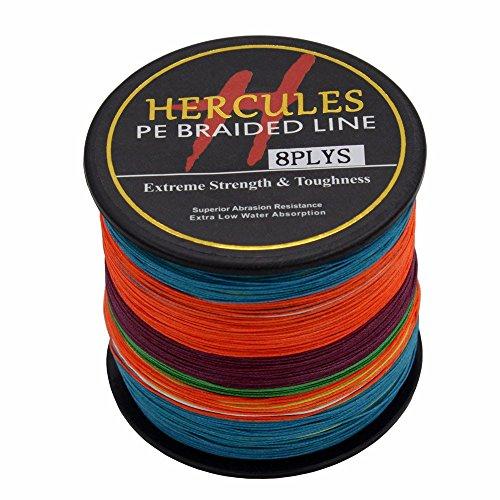 HERCULES 500m 547yds Multicolor 10lbs-300lbs Pe Braid Fishing Line 8 Strands (70lb/31.8kg 0.44mm)