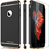 Software : iPhone 6 Case, iPhone 6S Case, COOLQO Ultra-thin Plastic Electroplate Hard 3in1 with Tempered Glass Screen Protector Slim Shockproof Cover Skin & Case for Apple iPhone 6/6S 4.7 Inch (Black)