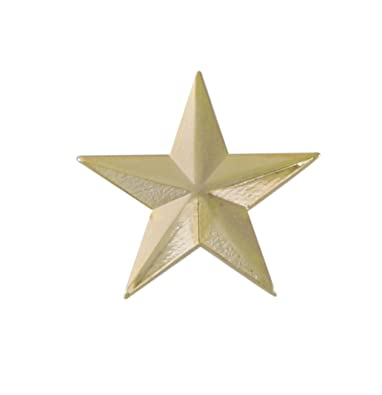 amazon com 3d 5 point gold star lapel pin 1 pack jewelry