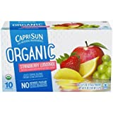 Capri Sun Organic Strawberry Lemonade Juice Drink 10-6 fl. oz. Pouches -2PACK