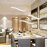 LightInTheBox Wavy Design 40W LED Fashion Simple Acrylic Pendant Lights Chandeliers Fit Living Room / Bedroom / Dining Room / Study Room/Office White Review