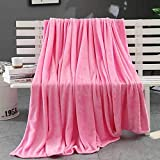 27.5 X39.4'' Super Soft Shaggy Flannel Throw Blanket Warm Lightweight Flannel Blankets Micro Plush Throw Blanket for Couch Sofa Blanket and Bedding (Hot Pink)