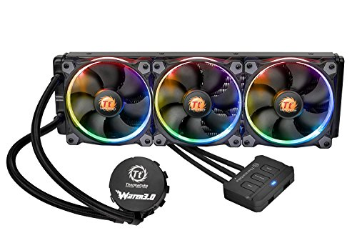 Thermaltake Water 3.0 Triple Riing RGB 360 AIO Liquid CPU Cooler with 3 x 120mm Powerful High Static Pressure Fan