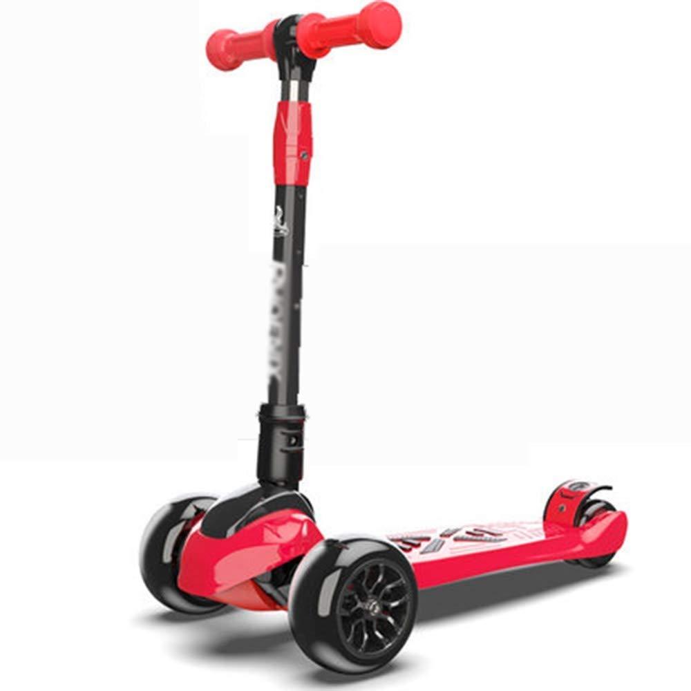 世界有名な スクーター幼児用スクーター ピンク 子供キックスクーター調節可能な高さハンドルバーデッキスクーター折りたたみ式3点滅PUホイール最高の贈り物子供男の子女の子 子供用スクーター (色 : (色 B07R6HNMKL 青) B07R6HNMKL ピンク ピンク, まぐろのみやこ:1bc41bd1 --- 4x4.lt