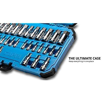 Capri Tools 30032 Master Hex Bit Socket Set, Metric & SAE, 32-Piece