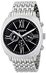 Akribos XXIV Men's AK636SSB Multi-Function Silver-Tone Bracelet Watch