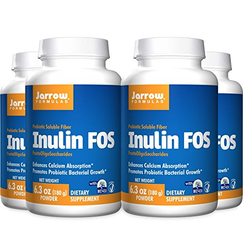 Jarrow Formulas Inulin FOS, 6.3 Ounce (Pack of 4)