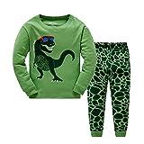 BABSUE Little Boys Pyjamas Set Dinosaur Toddler Kids PJS Sets Long Sleeve Nightwear Cotton Clothes 2 PCS Sleepwear Age 1-7 Years