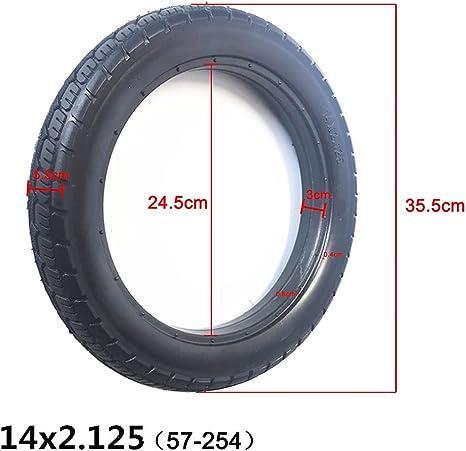 Schwarz Solide Reifen Ersatz Abriebfest Modell 14x2.125 Elektrofahrrad