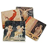 Roman Fresco Coasters - Set of 4 by Getty Museum Store
