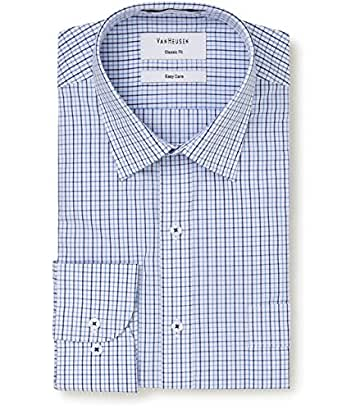 Van Heusen Men's Classic Fit Shirt Multi Window Check, Classic Blue, 42