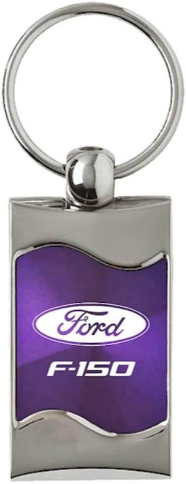 INC Au-Tomotive Gold Ford F-250 Rectangular Purple Car Key Chain Ring Fob