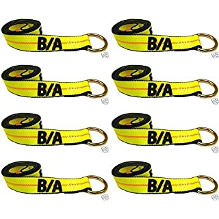 Sale Ships in 1 to 2 Business Days! BA Products 38-1-8-x8 8' Lasso Strap (set of 8) for Wheel Lift Wrecker Rollback Tow Truck. Fits JerrDan Century and more.