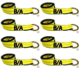 Ships in 1 to 2 Business Days! BA Products 38-1-8-x8 8' Lasso Strap (set of 8) for Wheel Lift - Wrecker - Rollback - Tow Truck. Fits JerrDan - Century and more.