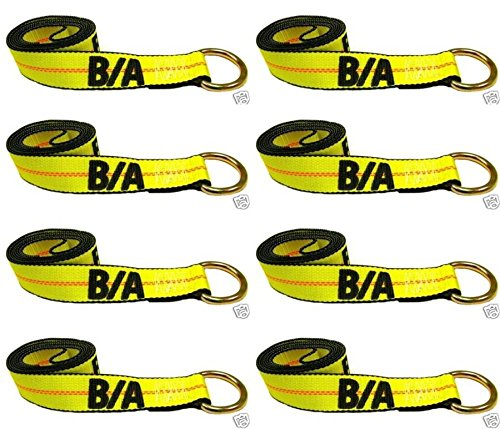 Ships in 1 to 2 Business Days! BA Products 38-1-8-x8 8' Lasso Strap (set of 8) for Wheel Lift, Wrecker, Rollback, Tow Truck. Fits JerrDan, Century and more.
