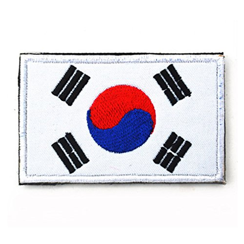 South Korea Flag Patch Embroidered Military Tactical Flag Patches