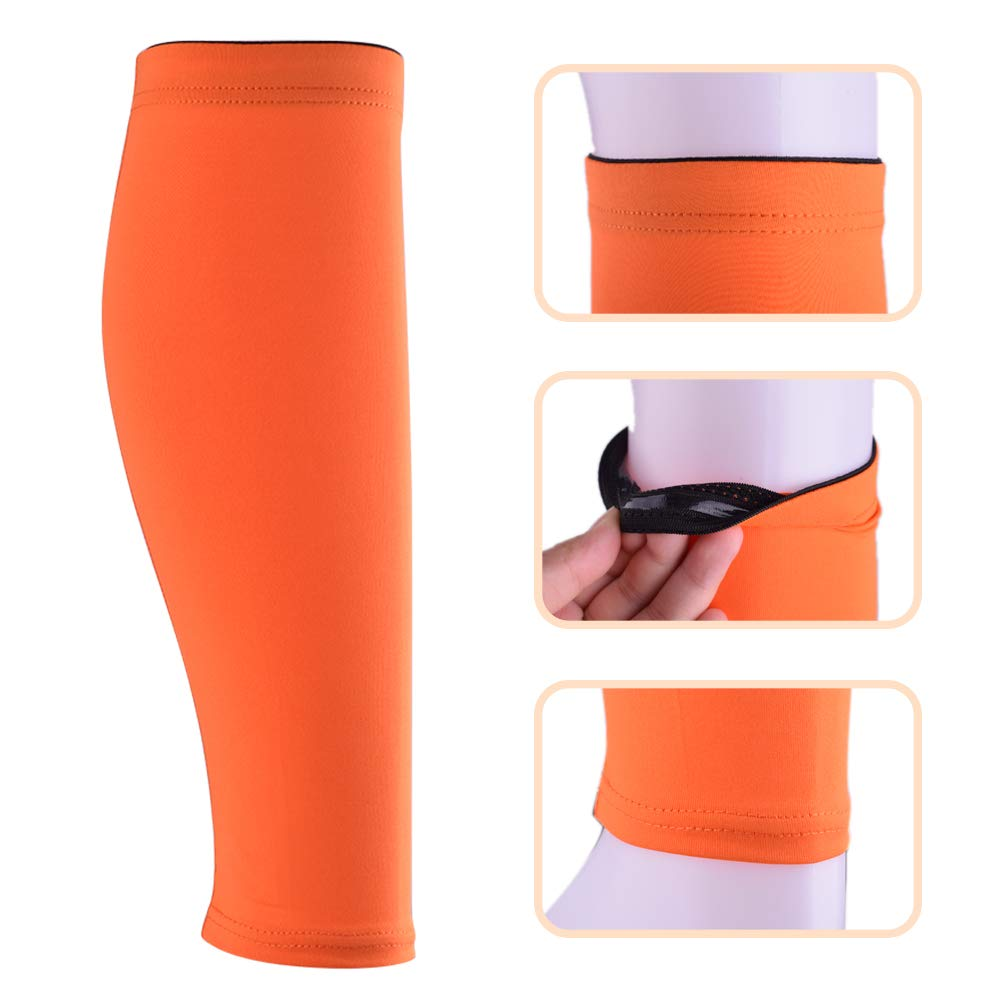 Work Quacoww 2 Pairs Calf Compression Sleeves Sports leggings Shin Splints Calf Support Breathable Leg Sleeves for Sports Fitness Marathon