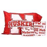 The Northwest Company NCAA Anthem Twin Pillowcase and Sheet Set (Nebraska Cornhuskers)