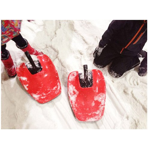 Aerodynamics Snow Hoover Downhill Thrill Sled Directional Control Joystick /Red by Aerodynamics