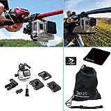 Black Pro Universal Gun / Fishing Rod / Bow Fixing Clip Mount Set Sportsman Mount for Gopro Hero 3+ / 4